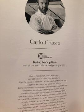 Carlo Cracco's elegant night menu