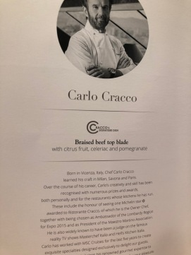 Carlo Cracco's elegant night menu
